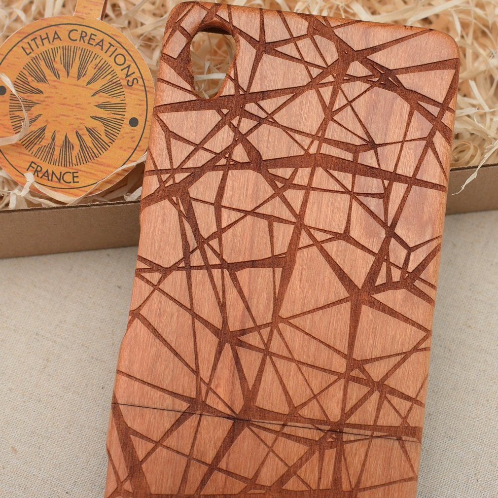 Geometric GEOWEB Wood Phone Case