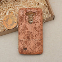 Floral HIBISCUS Heyday Wood Phone Case - litha-creations-france