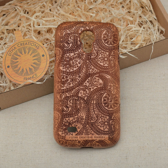 Psychedelic Custom Design CACHEMIRE Natural Wood Phone Case