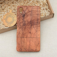 WOOD Circle Wood Phone Case Nature Custom Design - litha-creations-france