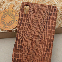 Nature / Animal Custom Design CROCO Natural Wood Phone Case - litha-creations-france