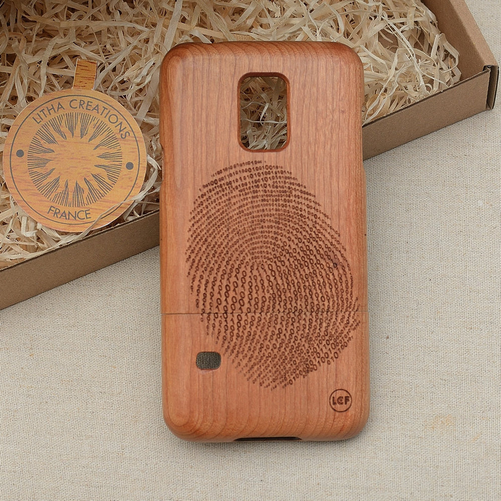 Science Custom Design DIGITAL PRINT Natural Wood Phone Case - litha-creations-france