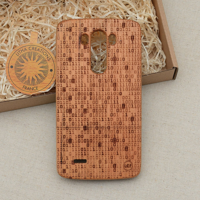 Science Custom Design MATRIX Natural Wood Phone Case