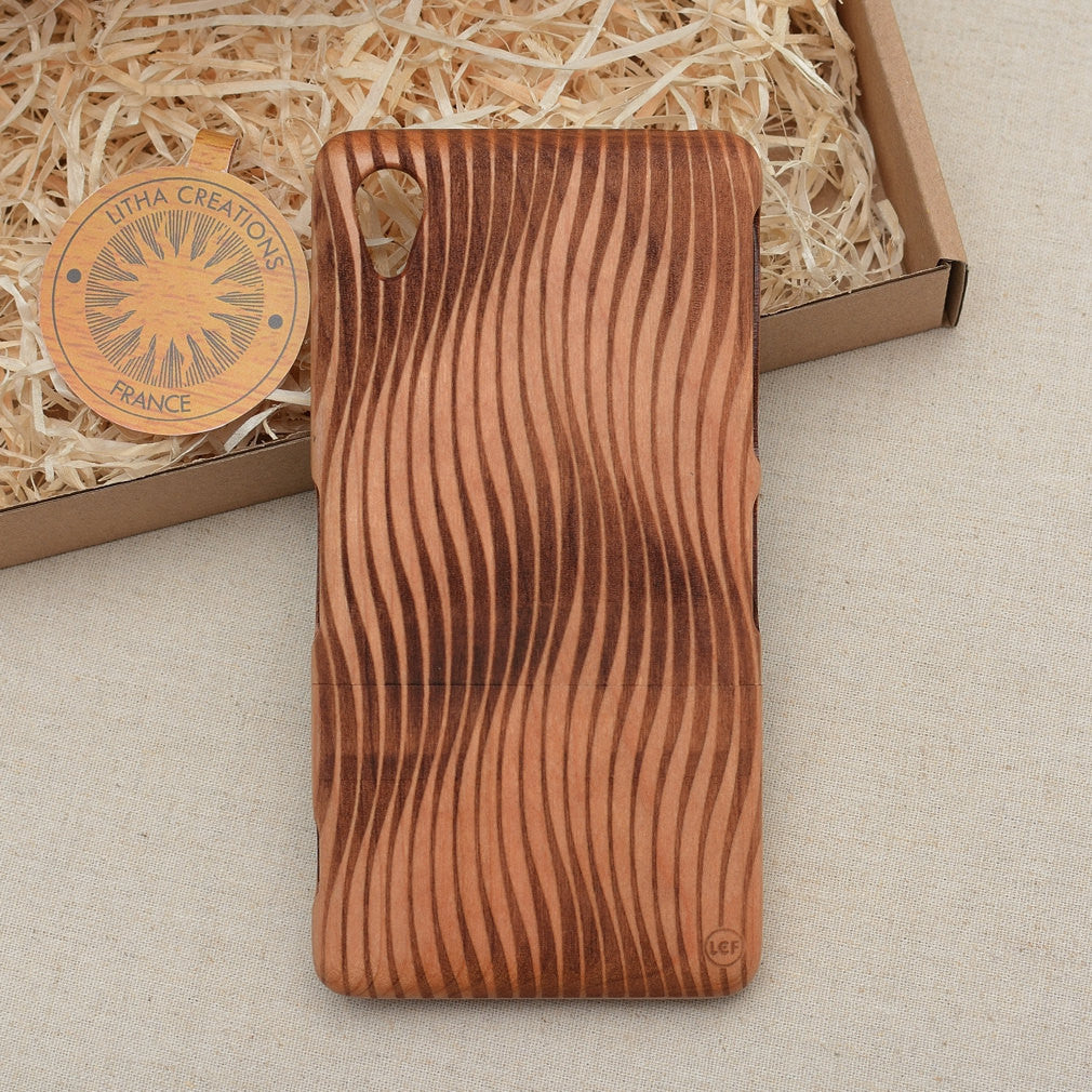 Psychedelic Custom Design VAGUE Natural Wood Phone Case