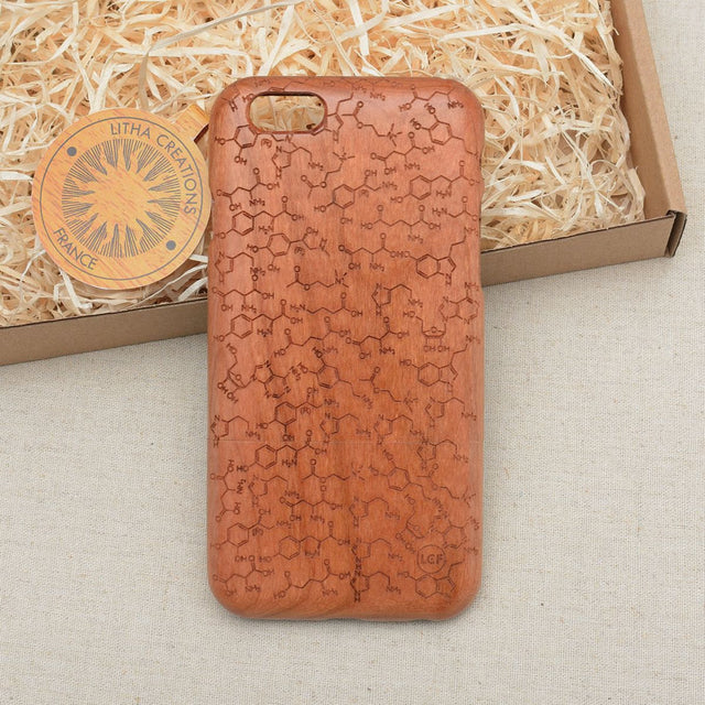 Science Custom Design CHEMISTRY Natural Wood Phone Case