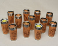 SPICES Engraved Wood Travel Mug Tumbler - litha-creations-france