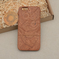 Psychedelic Custom Design TRINITY Natural Wood Phone Case - litha-creations-france