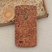 LEAFY Wood Phone Case Nature Custom Design - litha-creations-france