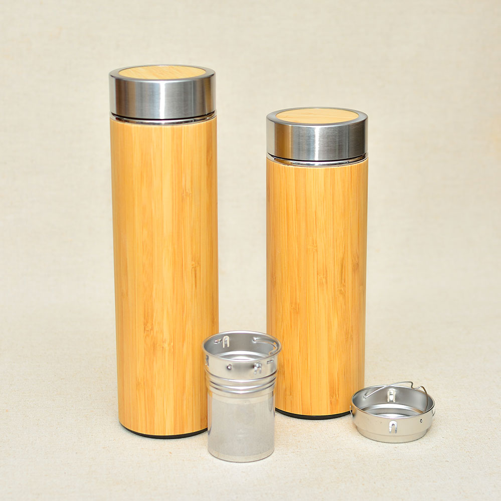 BEAR Wood Thermos Vacuum Flask Small and Large Size