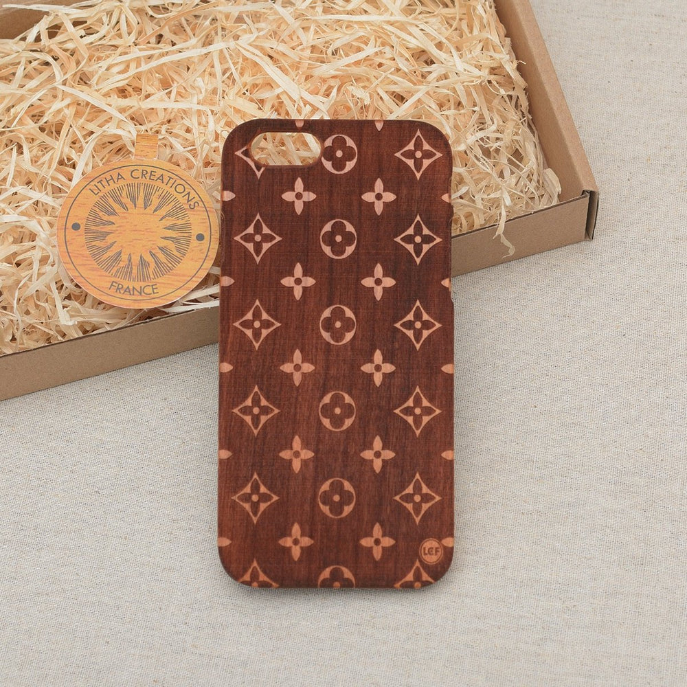 Geometric Fashion LOUIS DARK Wood Phone Case - litha-creations-france