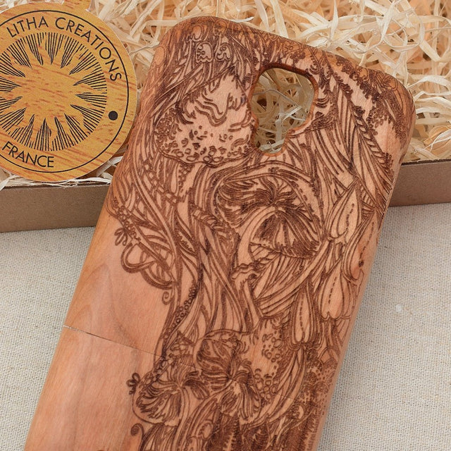Mushroom / Nature MAGIC FOREST Wood Phone Case