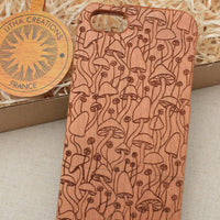Mushroom / Nature MAGIC MUSHROOM Wood Phone Case - litha-creations-france