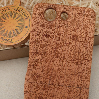 Abstract Floral MEADOW Wood Phone Case - litha-creations-france