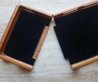 Geometric WORMHOLE Wood Phone Case - litha-creations-france