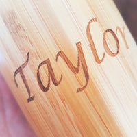 NAME Custom Engraved Wood Travel Mug Wooden Tumbler - litha-creations-france