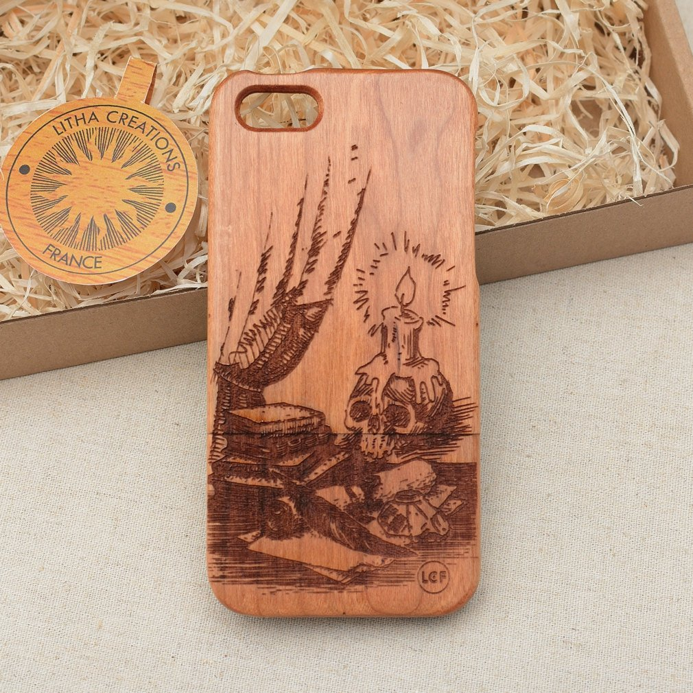Antique Style OCCULT Wood Phone Case