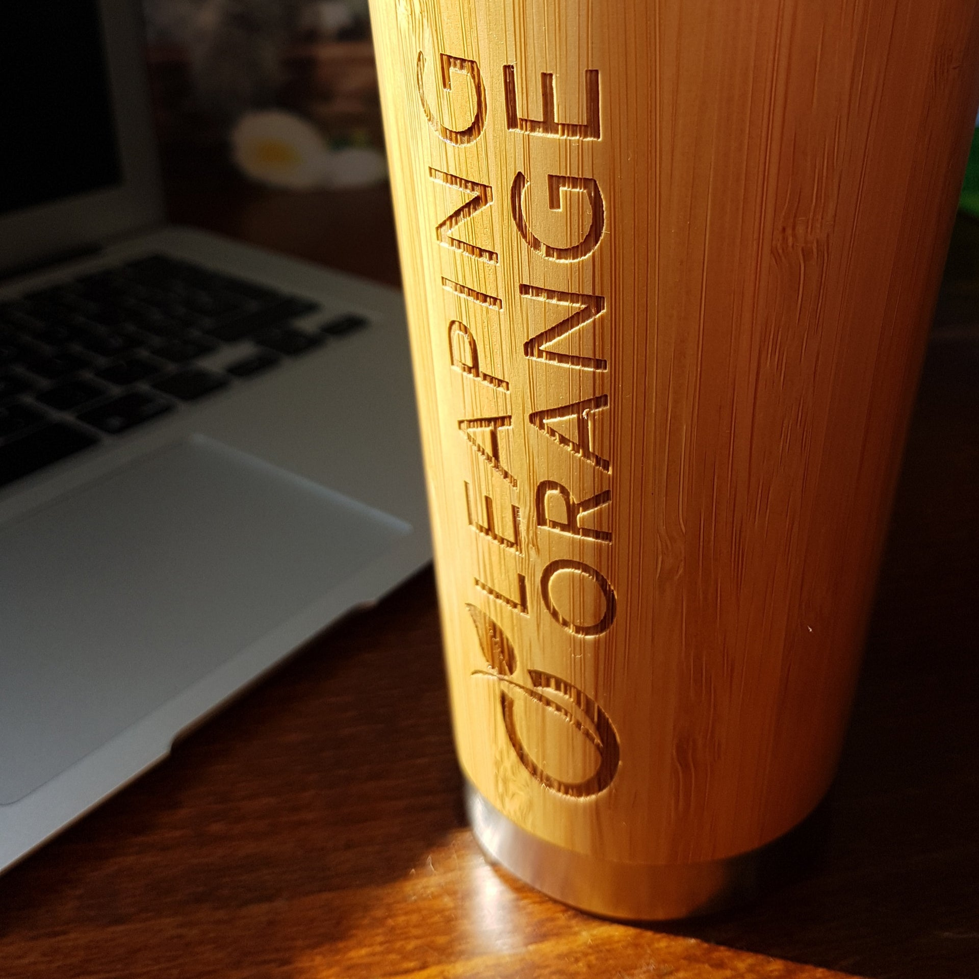 LOGO Custom Engraved Wood Travel Mug Wooden Tumbler
