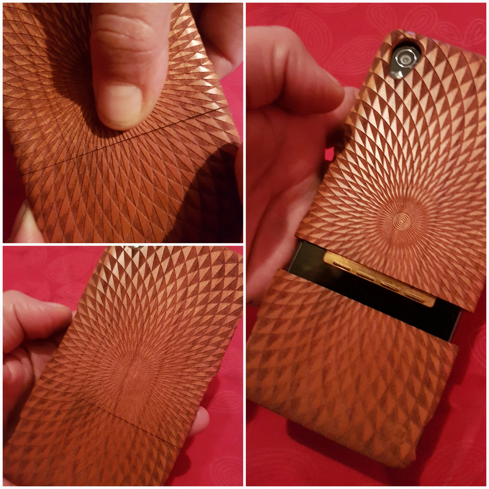 Sacred Geometric VERSO FLOWER OF LIFE Wood Phone Case - litha-creations-france