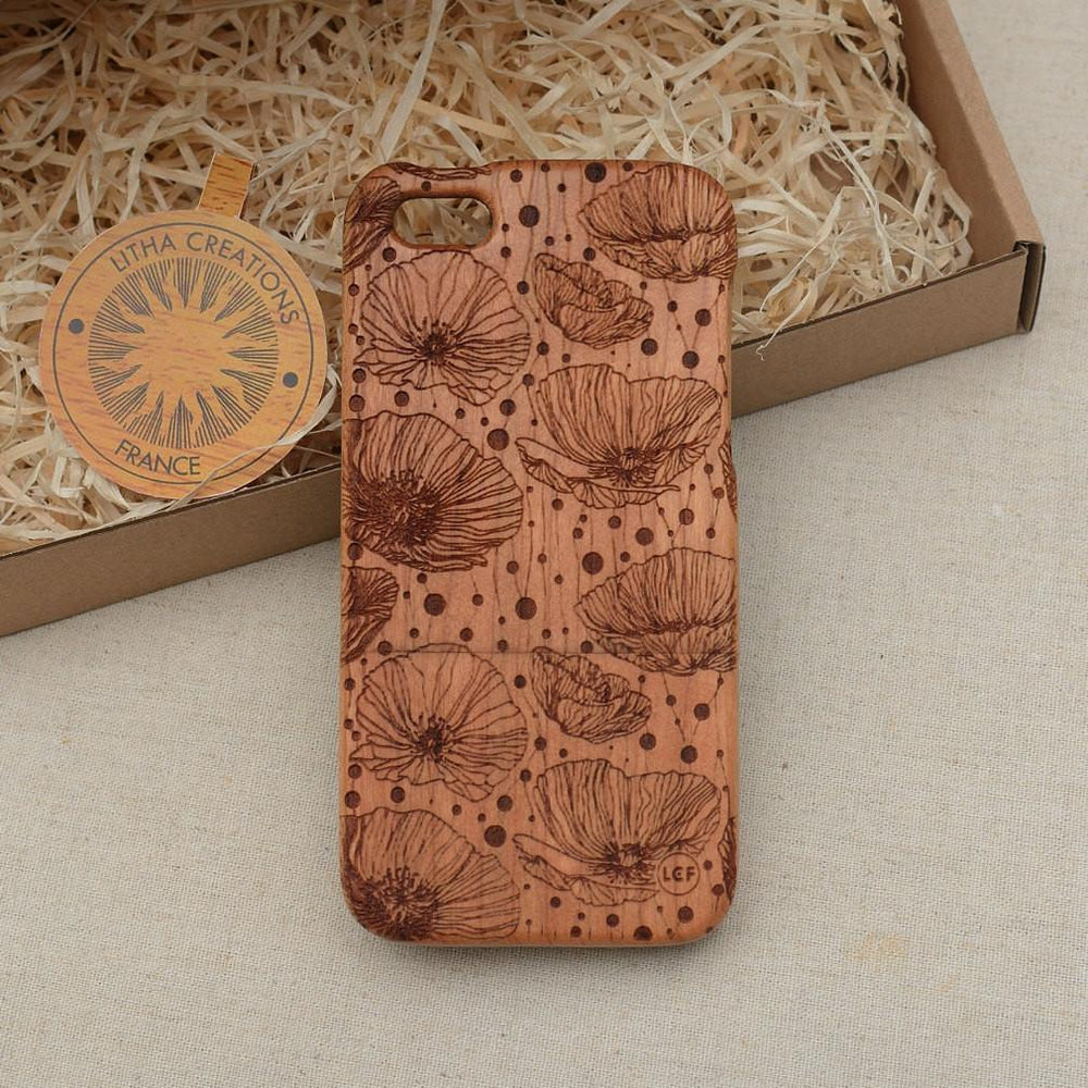 FANTASY Wood Phone Case Nature Custom Design - litha-creations-france