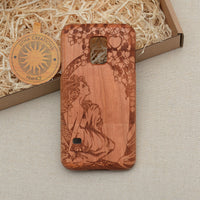 Art Nouveau RED APPLE Wood Phone Case
