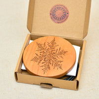 SNOWFLAKE Wood Wireless Phone Charger 10W Custom Engraved QI Charging Pad