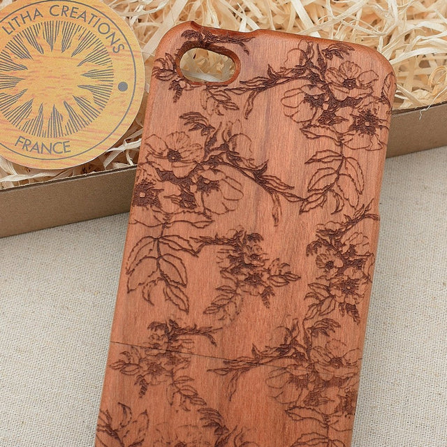 Floral SPRING BLOSSOM Wood Phone Case