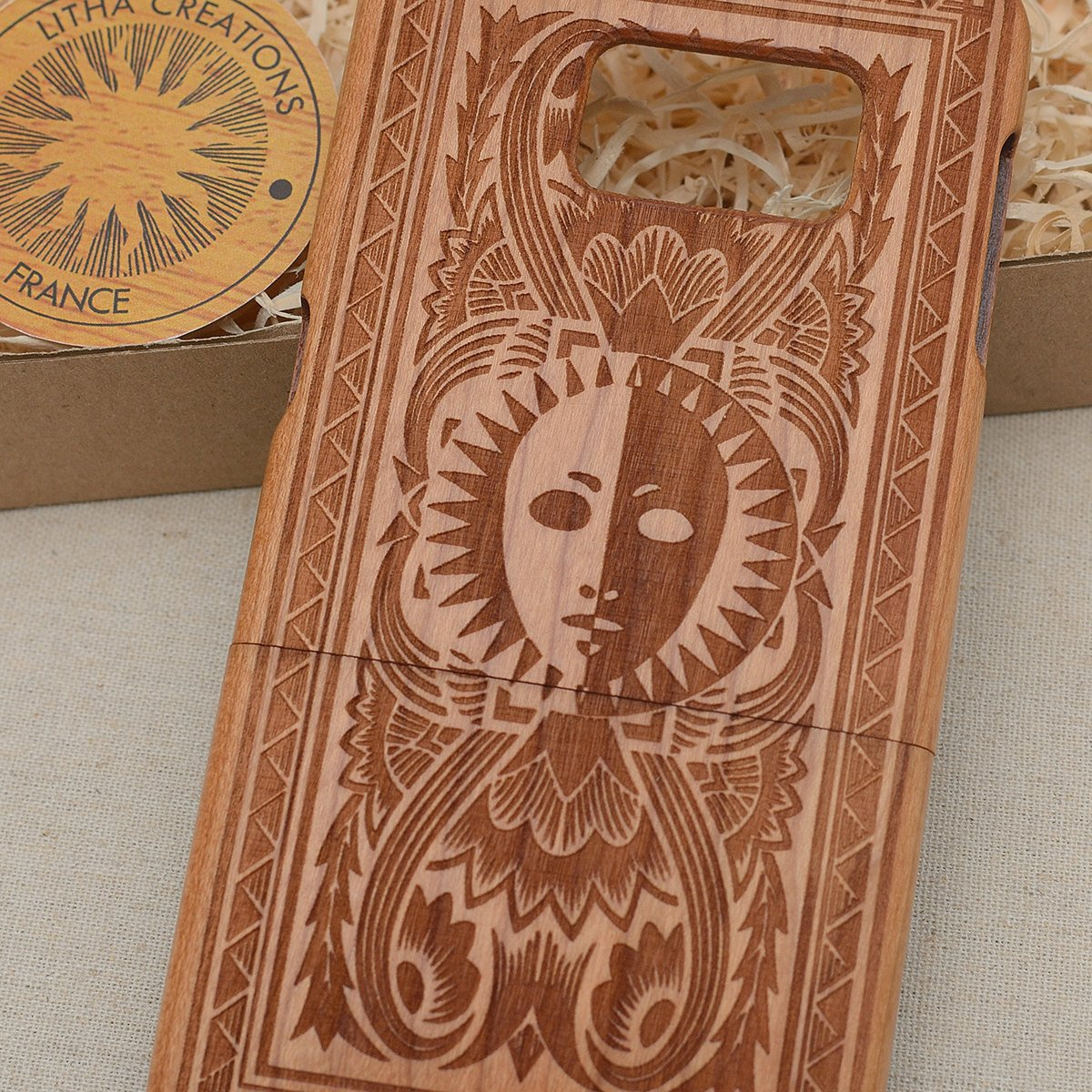 Antique Style TAROT CARD Wood Phone Case
