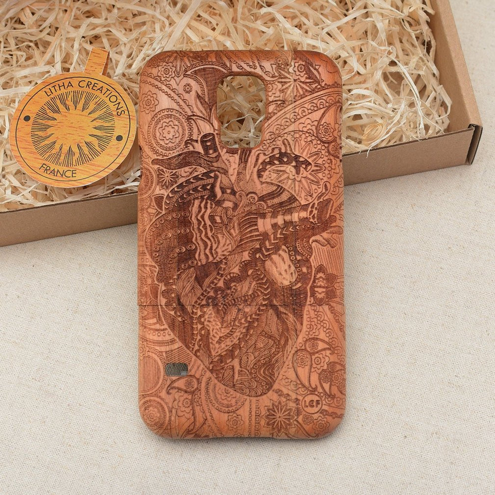 THE FLOW Wood Phone Case Nature Custom Design - litha-creations-france