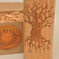 TREE OF KNOWLEDGE Wood Thermos Vacuum Flask