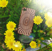 Geometric WHIRLPOOL Wood Phone Case - litha-creations-france