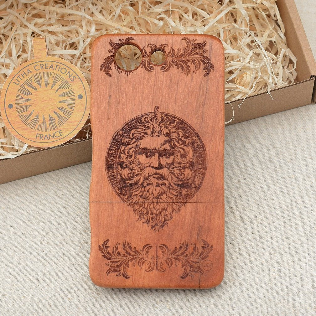 Ancient Symbols ZEUS Wood Phone Case