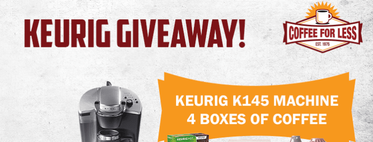 "The Second Annual ""New Year, New Brew"" Giveaway: Win a Keurig K145 and 4 Boxes of K-Cup Coffee!"