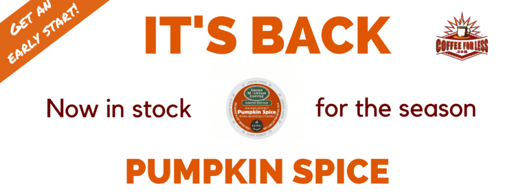 Seasonal Pumpkin Spice K-Cups Are Back