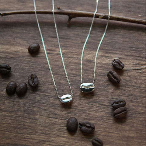Sterling Silver Coffee Necklace