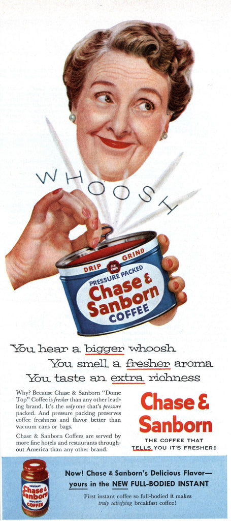 Chase and Sanborn vintage ad