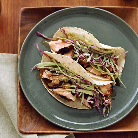 dry rubbed salmon tacos
