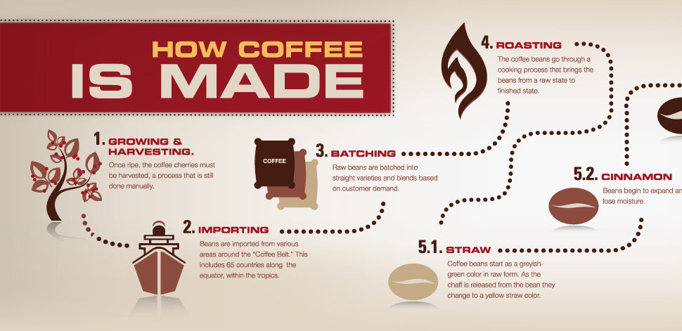 Coffee Flowchart - How Coffee Is Made