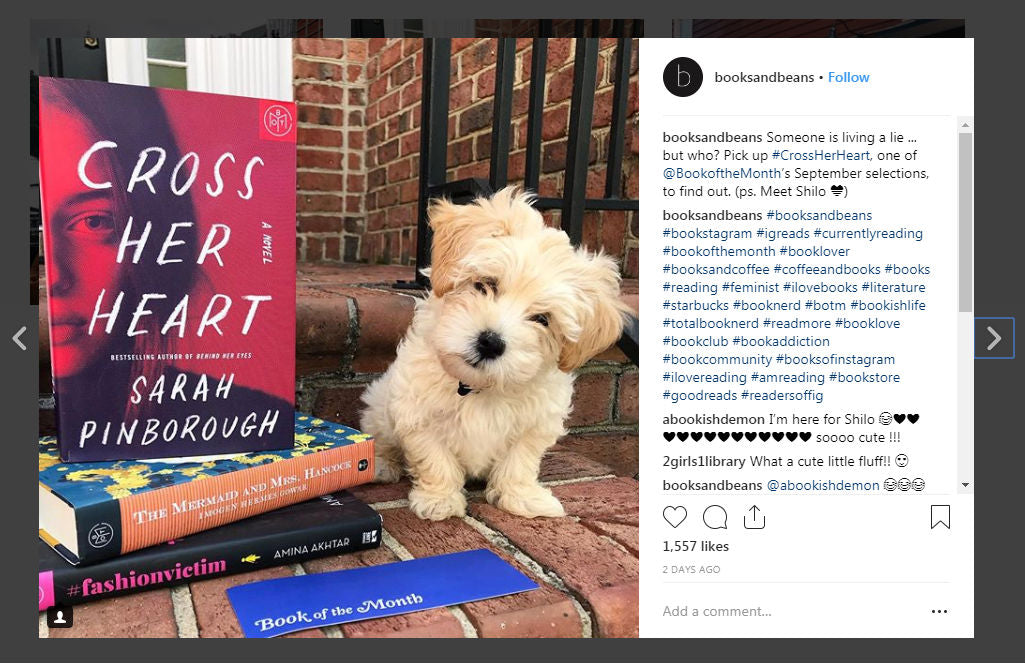 Books and Beans Instagram