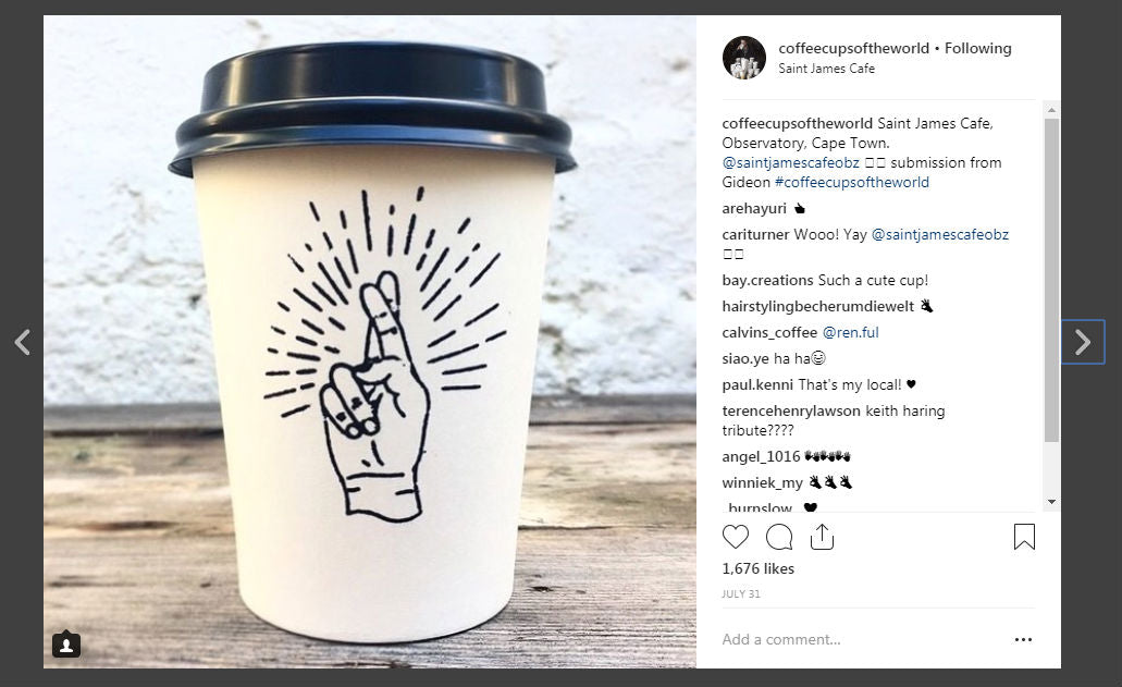 Coffee Cups of the World Instagram