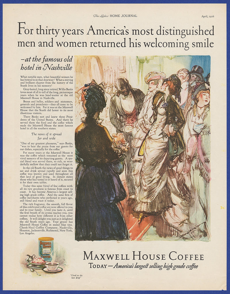 Maxwell House coffee from 1916