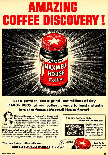 Maxwell House Coffee vintage ad