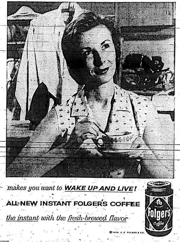 Folgers coffee ad