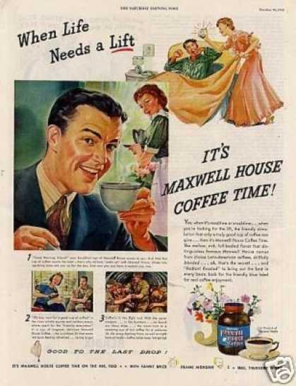 Maxwell House coffee ad from 1940s