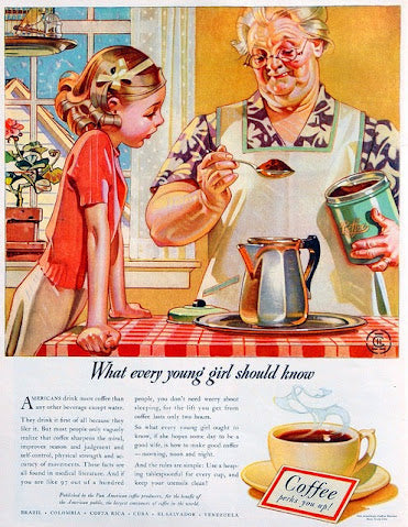 Vintage ad grandma and granddaughter