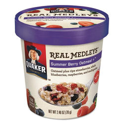 Quaker Real Medleys Oatmeal Summer Berry Oatmeal 12ct