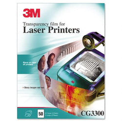 3M Clear Black and White Transparency Film Letter Size for Laser Printers 50ct Box