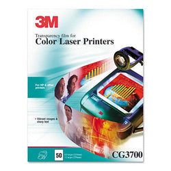 3M Clear Color Transparency Film Letter Size for Laser Printers 50ct Box