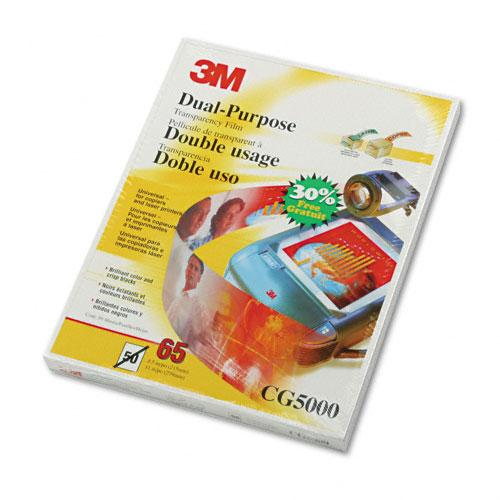 3M Clear Dual-Purpose Transparency Film Letter Size 50ct Box