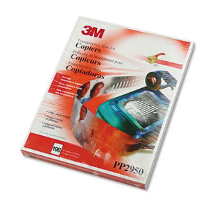 3M Clear Transparency Film for High Temperature Laser Copiers 100ct Box