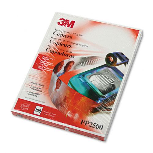 3M Clear Transparency Film Letter Size for Laser Printers 100ct Box